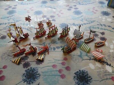 Warhammer Man O War Imperial/Norse Fleet Well Painted Greatship Wolf Griffon