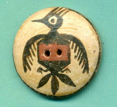 Vintage Button…Zia Pottery Thunderbird with Three Tail Feathers