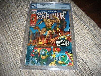 Sub-Mariner  # 21  PGX. CGC 9.0  white pages