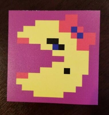 Ms. Pac Man sticker. 4 x 4. (Buy 3 of my stickers, GET ONE FREE!)