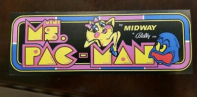 Ms. Pac Man Mini sticker. 3.5 x 10.5. (Buy 3 of my stickers, GET ONE FREE!)