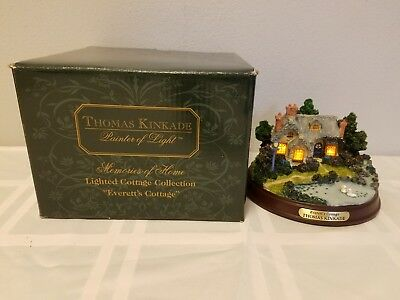 Thomas Kinkade Everett's Cottage Lighted Cottage in Box