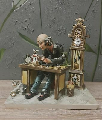Antique CAPODIMONTE by Cortese - The Watchmaker Italy Porcelain Figurine