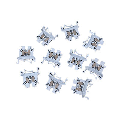 10pcs UK-2.5B 800V 32A 2.5mm² DIN Rail Screw Mounting Terminal Connector BlockJB