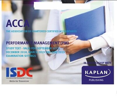 Kaplan ACCA Study Text F5 Performance Management (PM)(2018-2019)