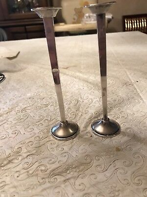 Cartier Sterling Taper Candlestick Pair