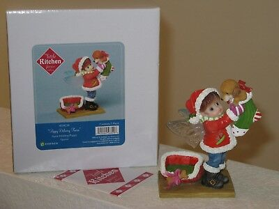 My Little Kitchen Fairies Puppy Delivery Fairie Retired 2013 NIB Christmas