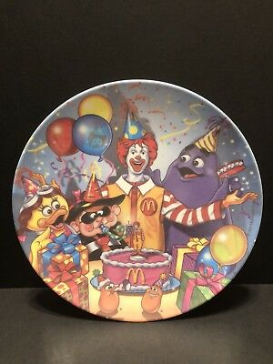 Ronald McDonald Happy Birthday Plastic Plate Vintage Collector's Item