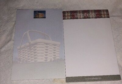 """Longaberger Notepad  4"""" x 6"""" Individual Sheets Home Office Set Of Two"""