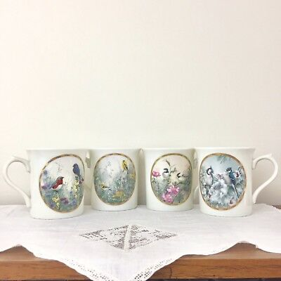 Lenox Set of 4 Natures Collage Mug Collections 1994 Catherine McClung Limited