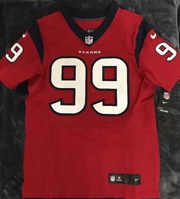 timeless design e9372 f6621 NIKE JJ WATT Houston Texans Elite Football Jersey Sz. 40 All Stitched