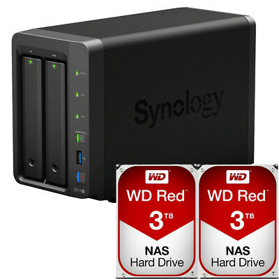 Synology DS718+ DiskStation with 6TB (2 x 3TB) Western Digital NAS Drives