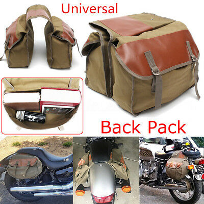 Durable Army Green Motorcycle Bag Saddle Bag Travel Knight Rider Rear Tail Bags