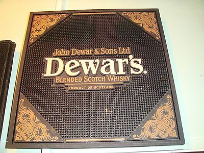 John Dewars Blended Scotch Whisky From Scotland Rubber Bar Pub Mat
