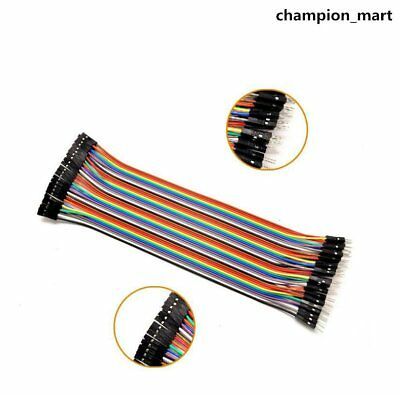 Neu 40pcs Female to Female Dupont Wire Jumper Cable for Breadboard DE