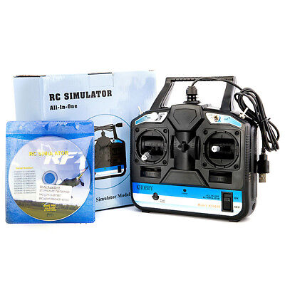 18 in 1 8CH RC Flight Simulator Drone Helicopter Training Transmitter W/ CD Disk