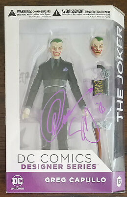 DC Collectibles Designer Series Joker Figure Double Signed by Capullo & Synder