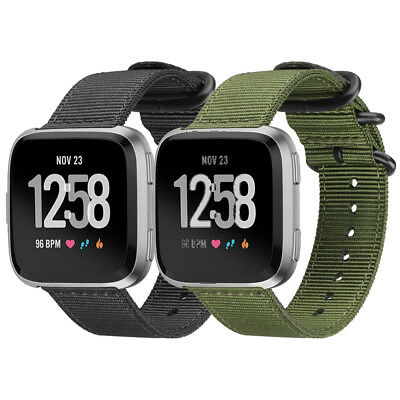 For Fitbit Versa Fitness Smart Watch Band Nylon Woven Wrist Strap Replacement