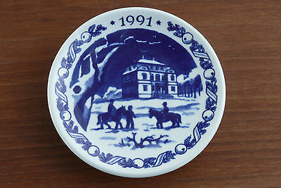 Royal Copenhagen The Eremitage Castle 1991 Miniature Collectible Plate ~ Denmark