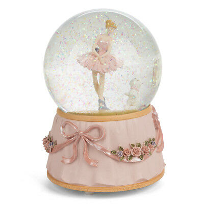 NEW The Russell Collection Ballerina & Dog Snow Dome