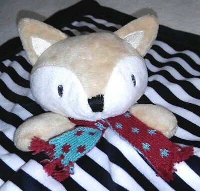 LEVTEX Baby Fox Lovey Security Blanket Navy Blue White Stripe Soother Flawless