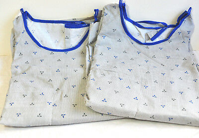 Phoenix Textile Executive IV Hospital gown with telemeter pocket lot of 2