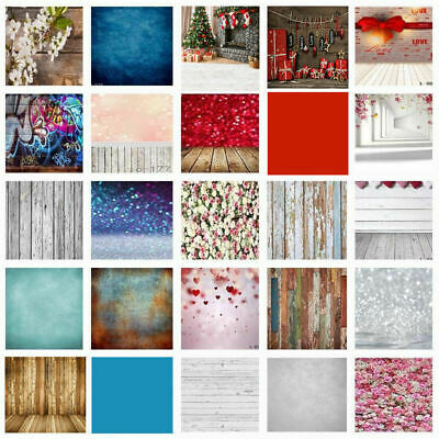 3/5/7ft Wood Wall Floor Flower Christmas Photography Photo Backdrop Background