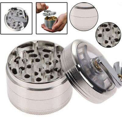OZ J Smoke Grinder Herb Aluminum Hand Crank Herbal Tobacco Grinders 4-layer