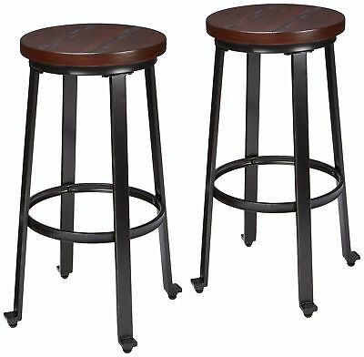 Excellent Ashley Furniture Signature Design Larchmont Barstool Set Ncnpc Chair Design For Home Ncnpcorg