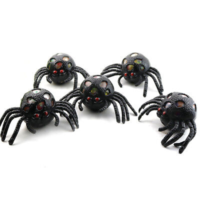 Black spider Squishy Ball Anti Stress Squeeze Grape Ball Relief Tricky Ball Toy