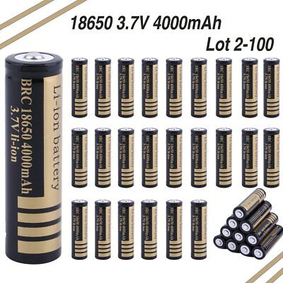 3.7V 18650 Li-ion 4000mAh Rechargeable Battery for RC toy LED Torch LOT URT
