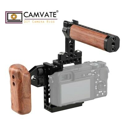CAMVATE Camera Cage Wooden Left Handle Grip Mount fr Sony A6500,A6000,A6300 NEX7