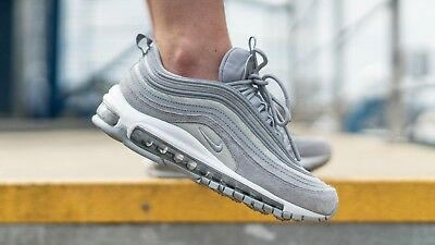 7be1560f6e14 NIKE AIR MAX 97 Glitter Pack Wolf Grey White Women's Size 3 4 5 5.5 ...