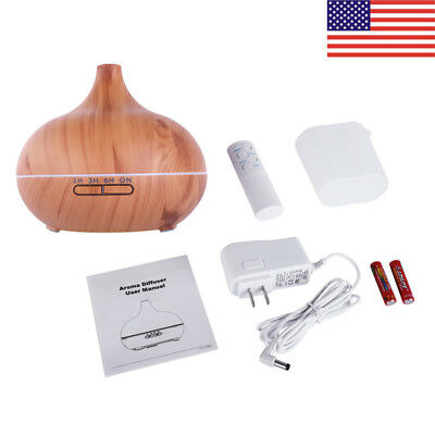 Portable Cold Fog Humidifier Wood Grain Aromatherapy Essential Oil Diffuser