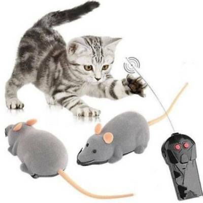 Cute Wireless Remote Control RC Electronic Rat Mouse Mice Toy For Cat Puppy Gift