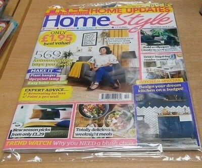 Home Style magazine OCT 2018 Renovate for Less, Paint Geo Wall, Bold Wallpaper &