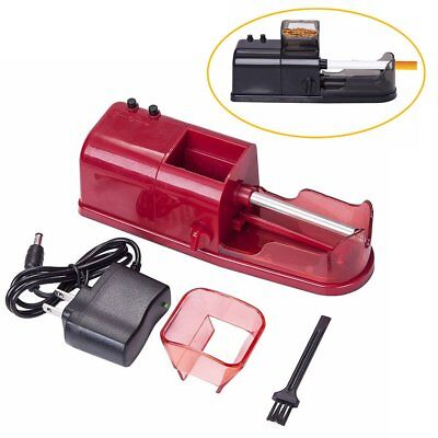 1X Red Electric Tobacco Roller Automatic Cigarette Rolling Machine Injector New
