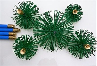 """Nylon Chimney Brushes  4"""" - 12"""" for to fit Bailey Brothers Drain Rods Set Sweep"""