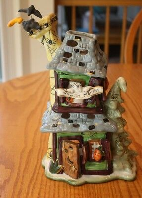 New Blue Sky Clayworks Goldminc Halloween Howlin Mansion Haunted T Light House