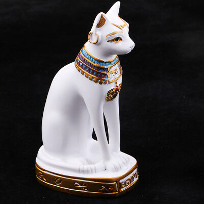 Resin Egyptian Myth Cat Goddess Bast Bastet Statue Home Bookshelf Decoration