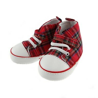 Scottish Baby Tartan Shoes Available In Various Colours/Sizes 0-24 Months