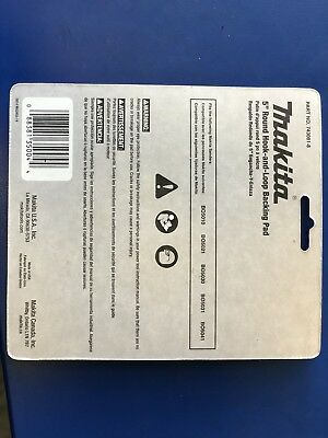 Makita 743081-8 Round Backing Pad with Hook and Loop Attachment, 5 in Dia