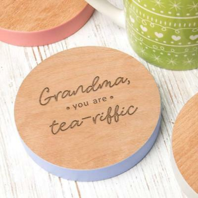 Personalised Grandma Gift Coaster Birthday Mothers Day Present Best Great Granny