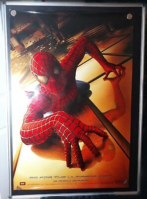 Spider-Man Tobey Maguire Glossy 27x40 Original Double Sided Movie Poster 2002 A