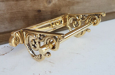 Victorian Brass Toilet Roll Holder Vintage Edwardian Novelty