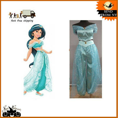 Dress Pant Adult Aladdin Lamp Jasmine Princess Halloween Costume Party Cosplay