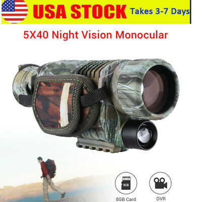 5x40 Infrared Night Vision Monocular Telescope For Wild Hunting Watching 2M-200M
