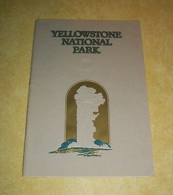 1929 Geyserland Yellowstone National Park Union Pacific Railroad Rr Picture Book