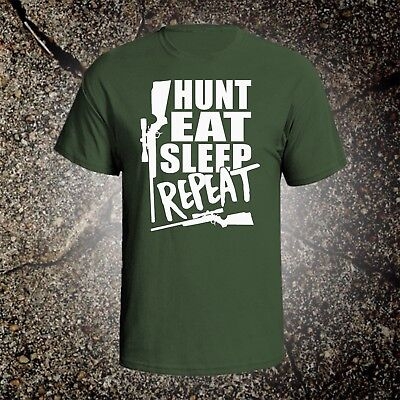 a97baa776 Hunt Eat Sleep Repeat hunting vintage style graphic t shirt tee browning  ruger