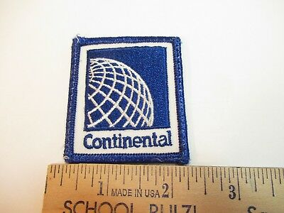 "Continental Airlines Patch, 2 1/4"" Square,unused"